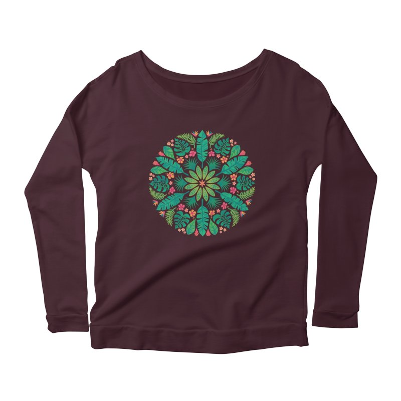 Tropical Sun Women's Scoop Neck Longsleeve T-Shirt by Waynem