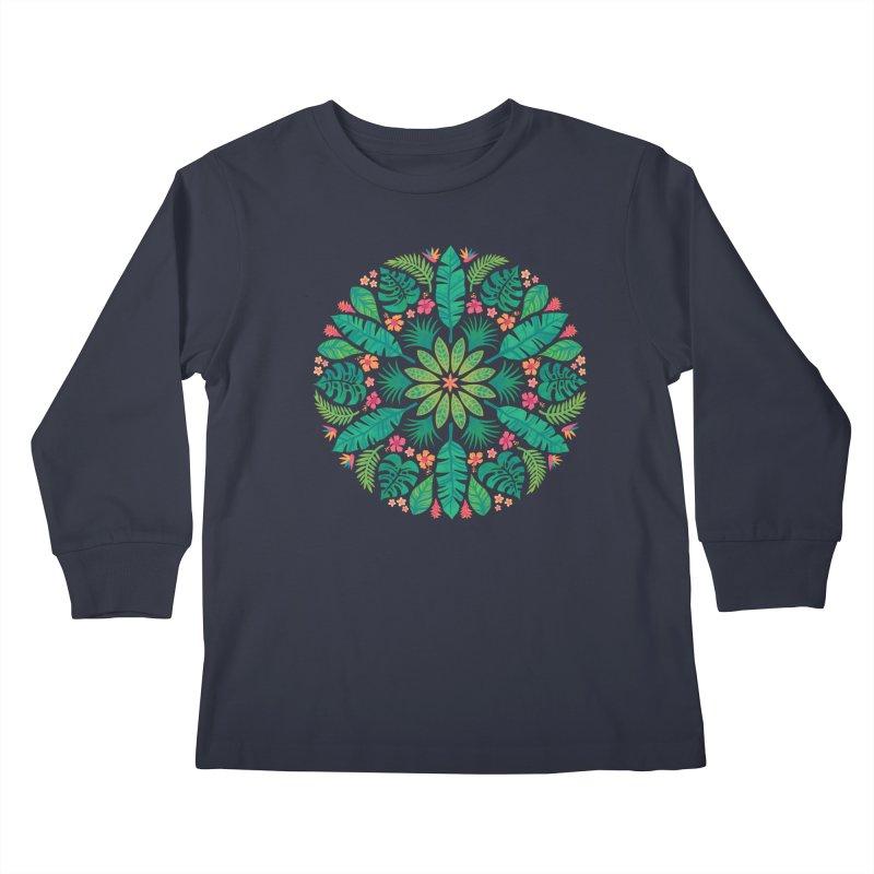 Tropical Sun Kids Longsleeve T-Shirt by Waynem
