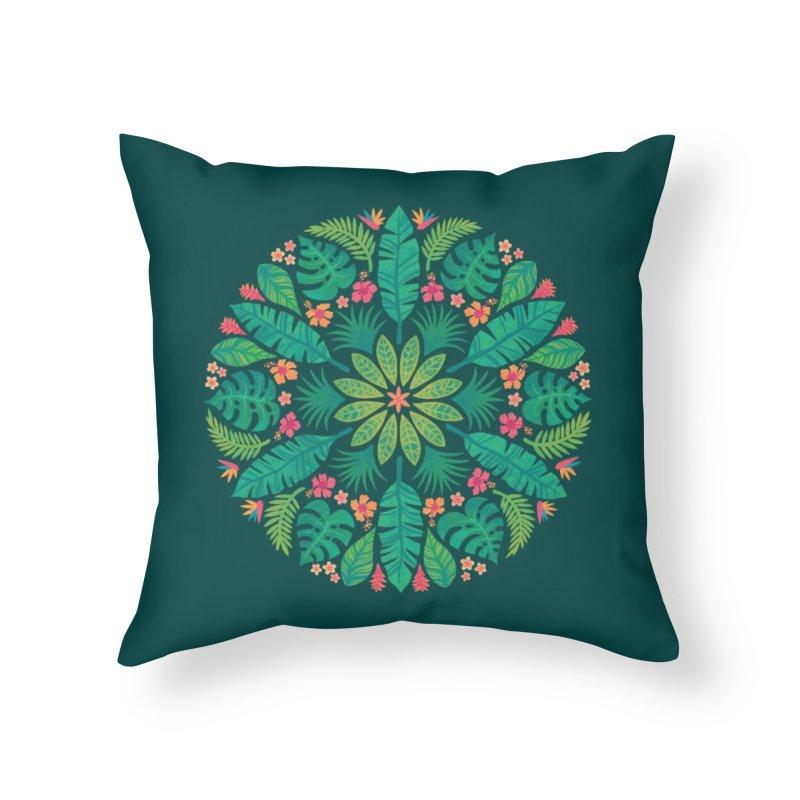Tropical Sun Home Throw Pillow by Waynem