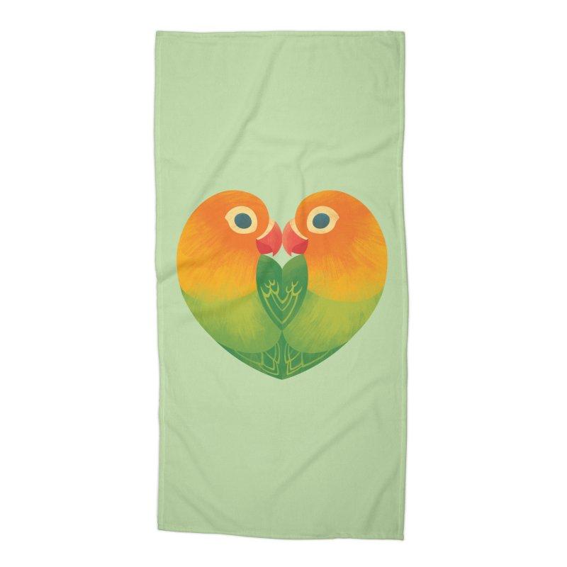 Lovebirds Accessories Beach Towel by Waynem