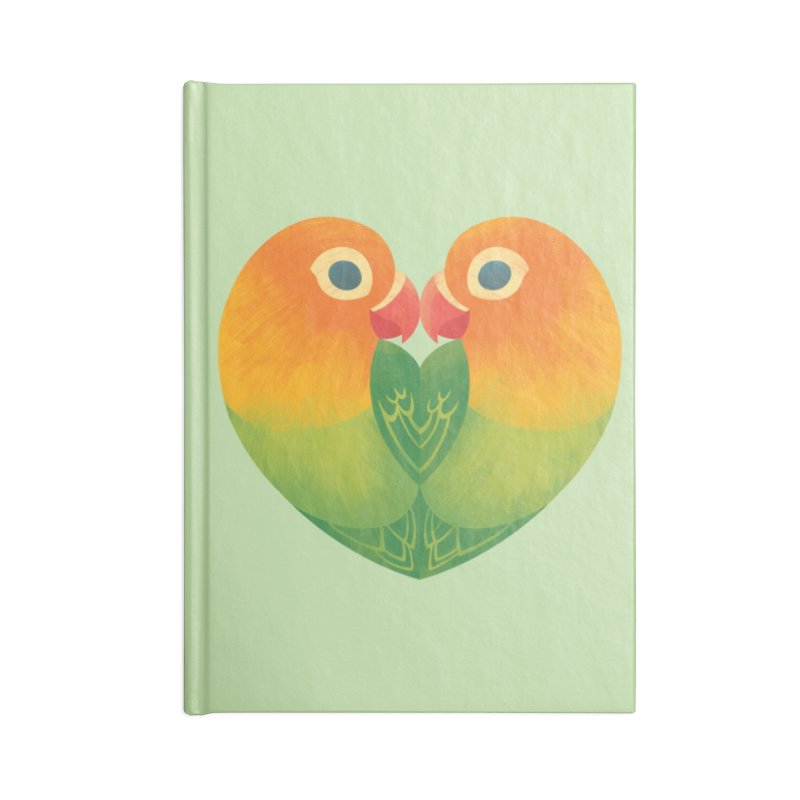 Lovebirds Accessories Blank Journal Notebook by Waynem