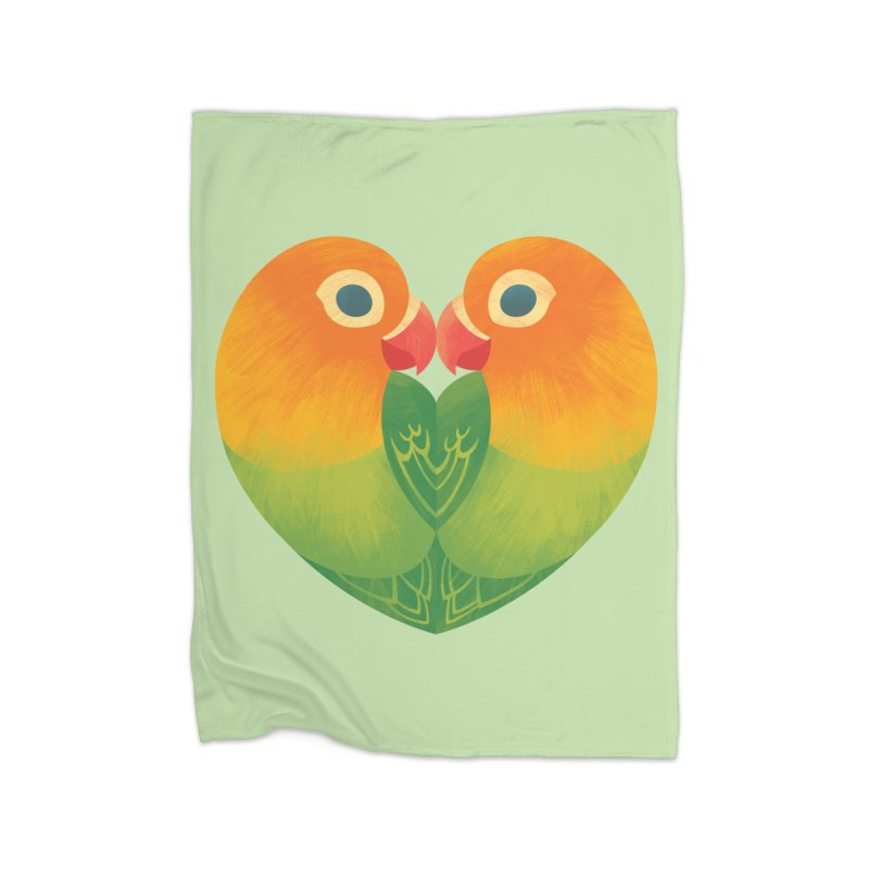 Lovebirds Home Blanket by Waynem
