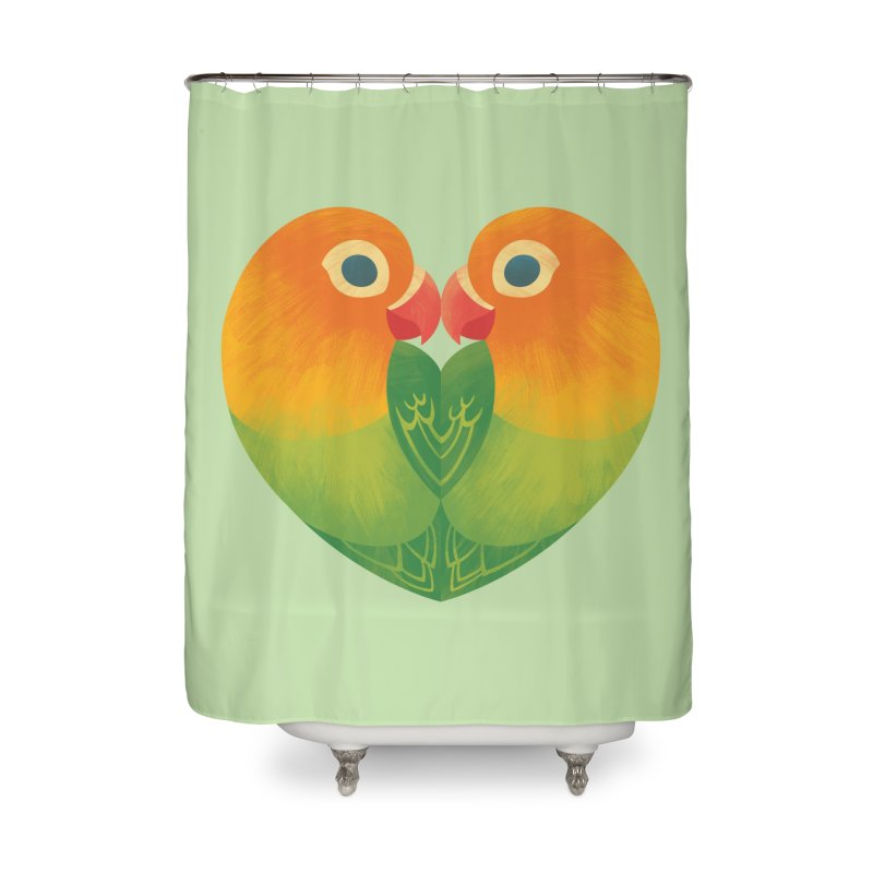 Lovebirds Home Shower Curtain by Waynem