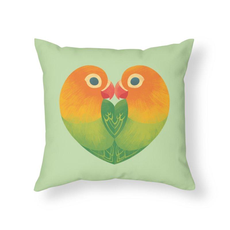 Lovebirds Home Throw Pillow by Waynem
