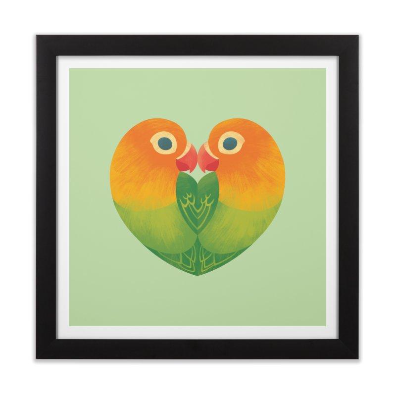 Lovebirds Home Framed Fine Art Print by Waynem