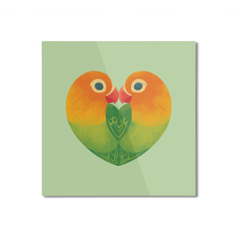 Lovebirds Home Mounted Aluminum Print by Waynem