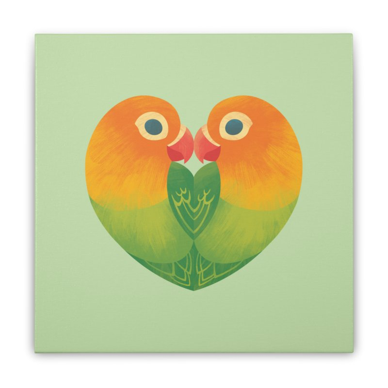 Lovebirds Home Stretched Canvas by Waynem