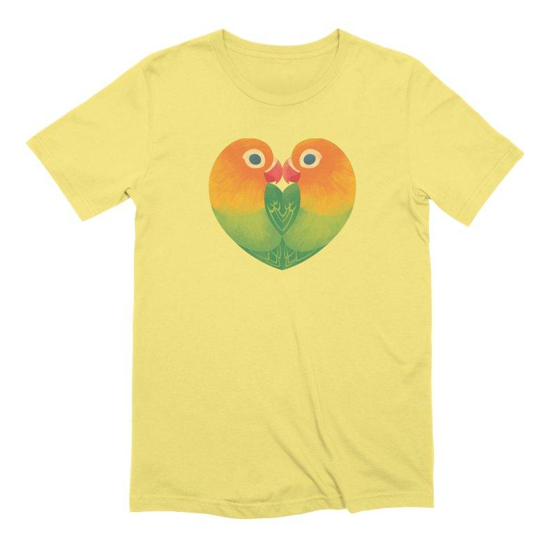 Lovebirds Men's Extra Soft T-Shirt by Waynem