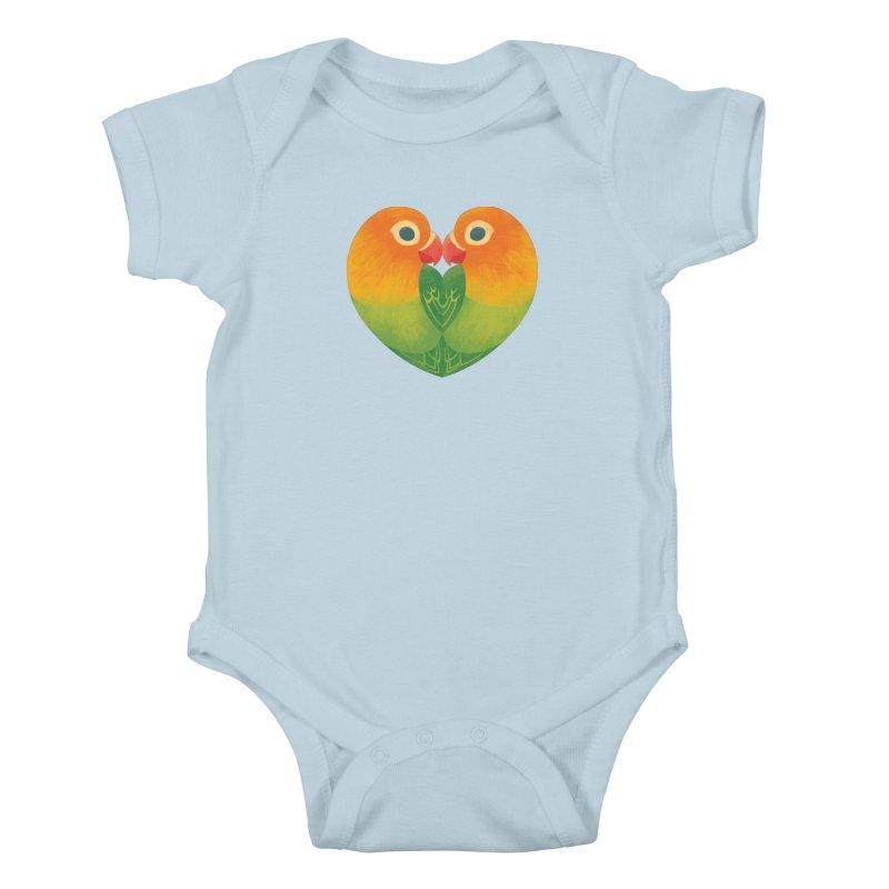 Lovebirds Kids Baby Bodysuit by Waynem