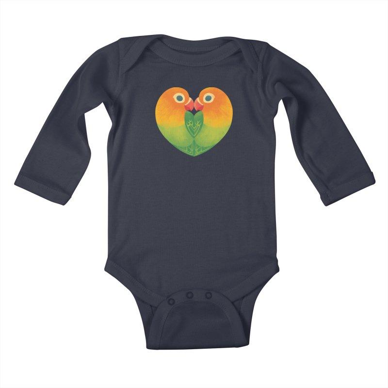 Lovebirds Kids Baby Longsleeve Bodysuit by Waynem