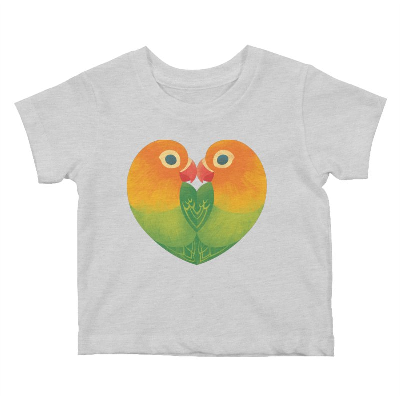 Lovebirds Kids Baby T-Shirt by Waynem