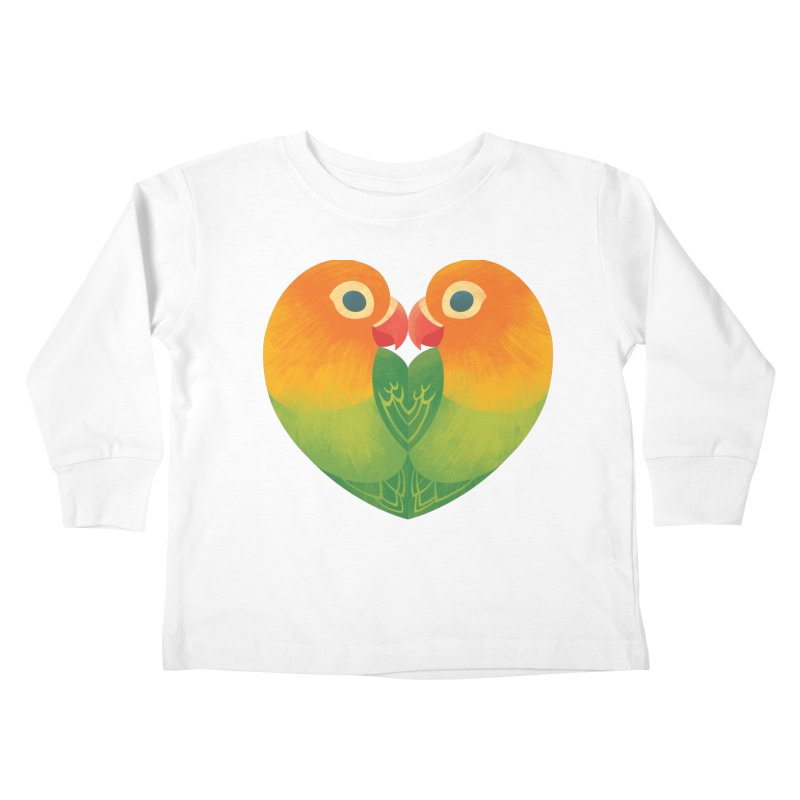 Lovebirds Kids Toddler Longsleeve T-Shirt by Waynem