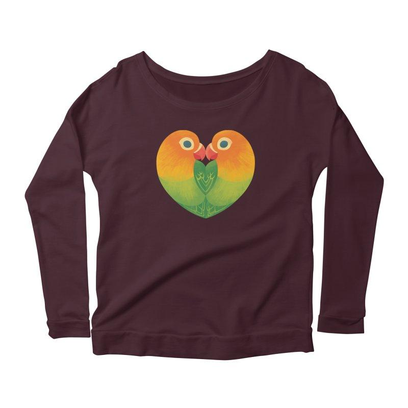 Lovebirds Women's Scoop Neck Longsleeve T-Shirt by Waynem