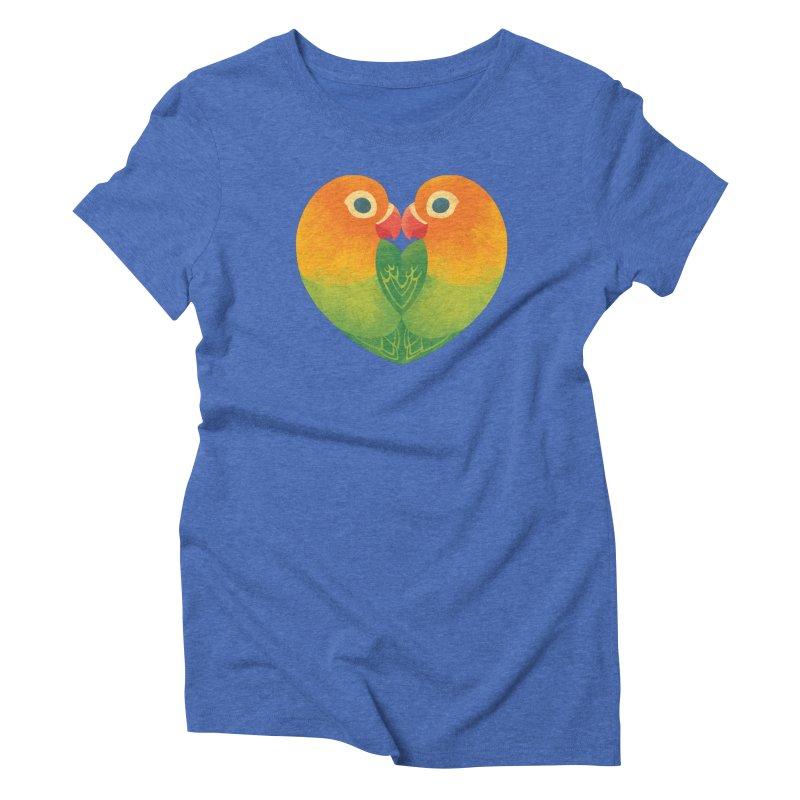 Lovebirds Women's Triblend T-Shirt by Waynem