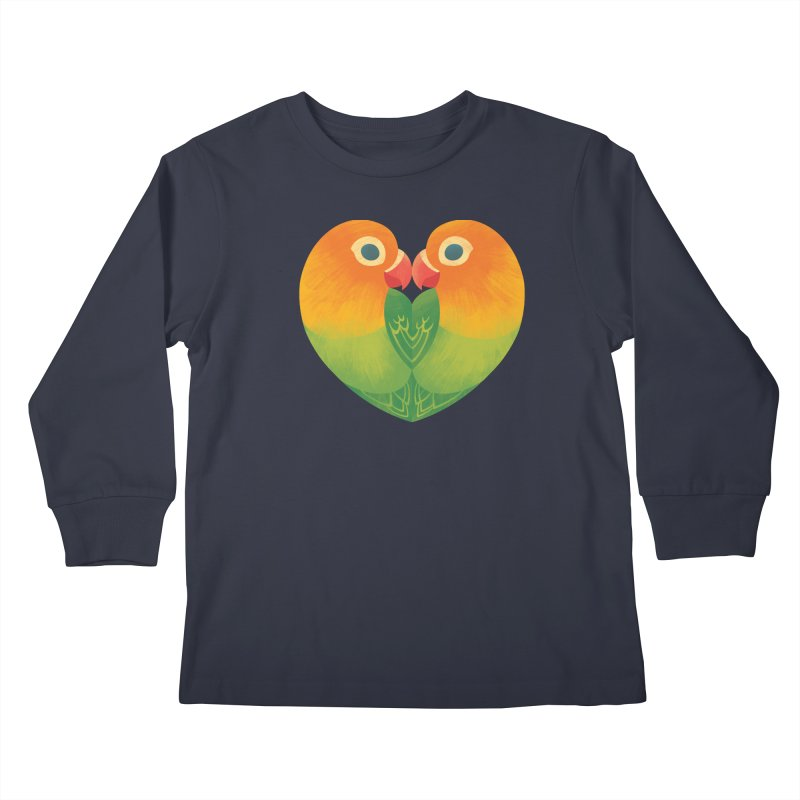 Lovebirds Kids Longsleeve T-Shirt by Waynem