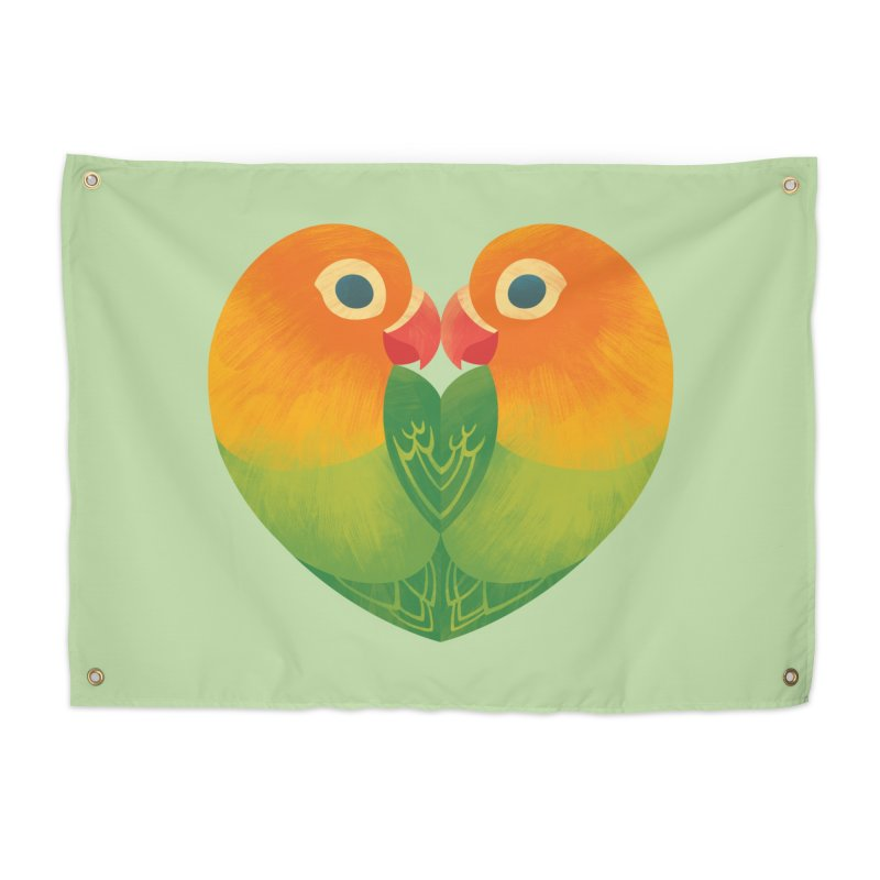 Lovebirds Home Tapestry by Waynem