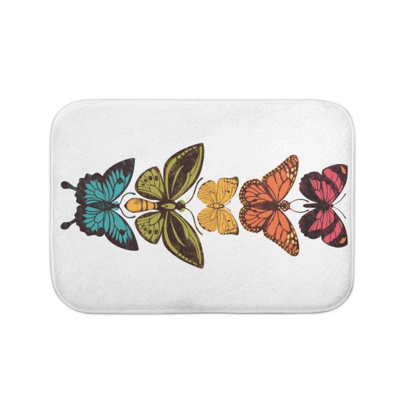 Butterfly Spectrum Home Bath Mat by Waynem