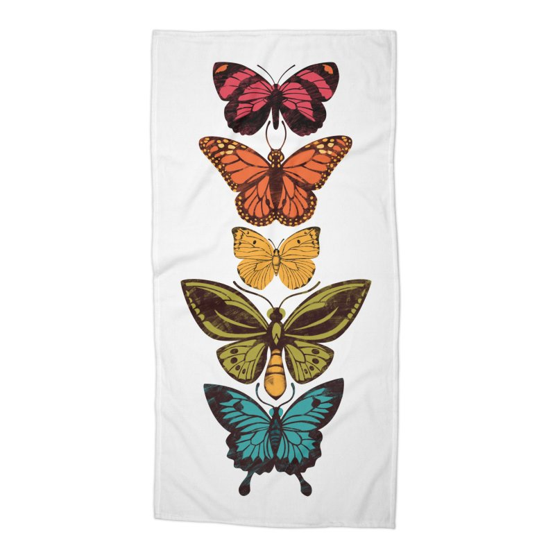 Butterfly Spectrum Accessories Beach Towel by Waynem