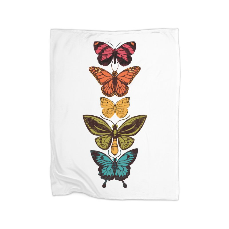 Butterfly Spectrum Home Blanket by Waynem