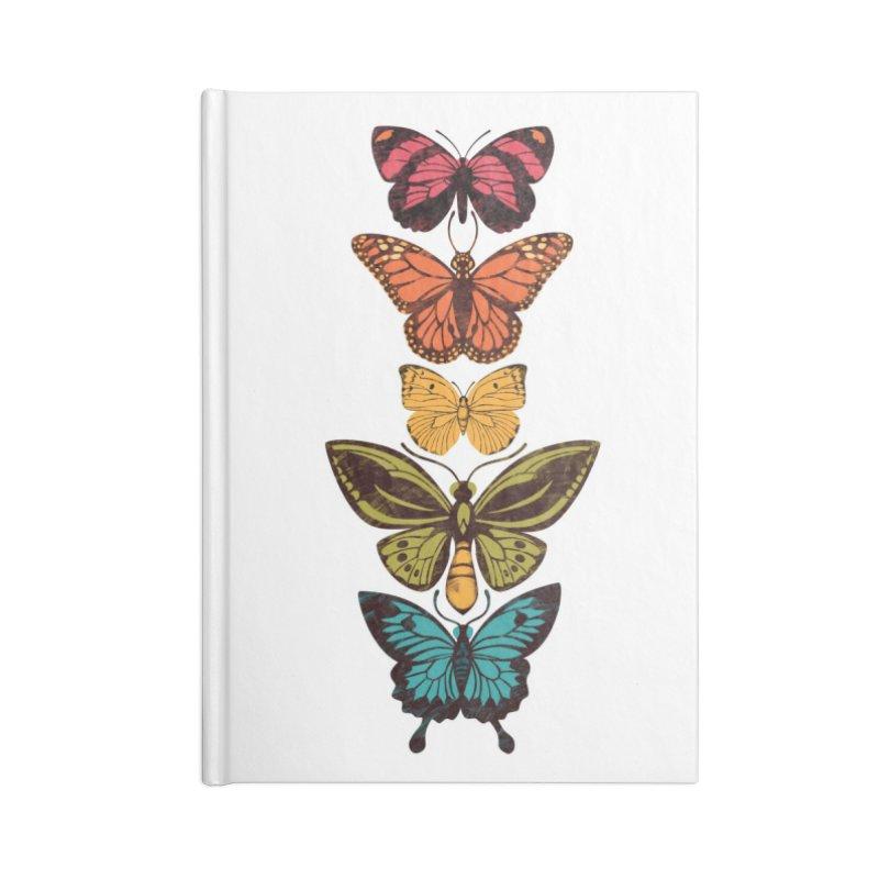 Butterfly Spectrum Accessories Lined Journal Notebook by Waynem