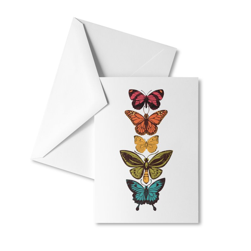 Butterfly Spectrum Accessories Greeting Card by Waynem
