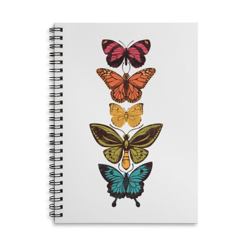 Butterfly Spectrum Accessories Lined Spiral Notebook by Waynem