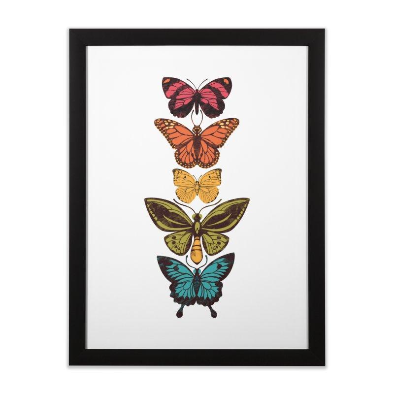 Butterfly Spectrum Home Framed Fine Art Print by Waynem