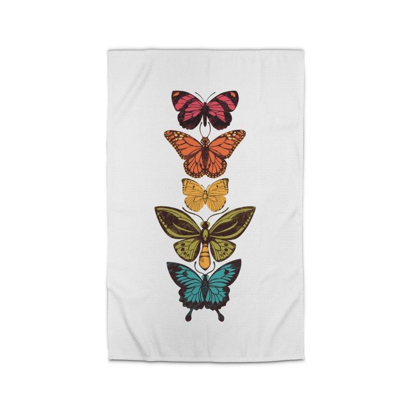 Butterfly Spectrum Home Rug by Waynem