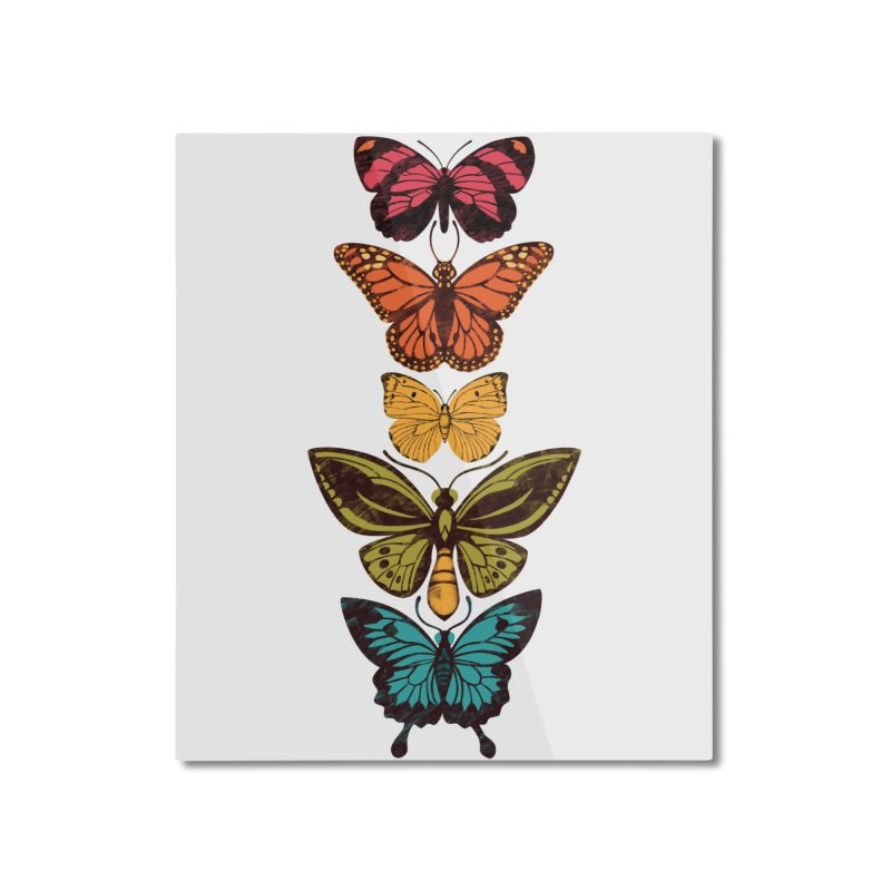 Butterfly Spectrum Home Mounted Aluminum Print by Waynem
