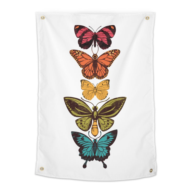 Butterfly Spectrum Home Tapestry by Waynem