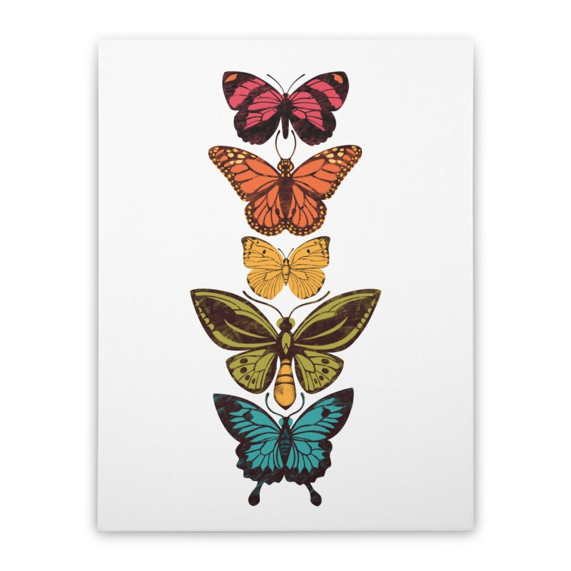 Butterfly Spectrum Home Stretched Canvas by Waynem