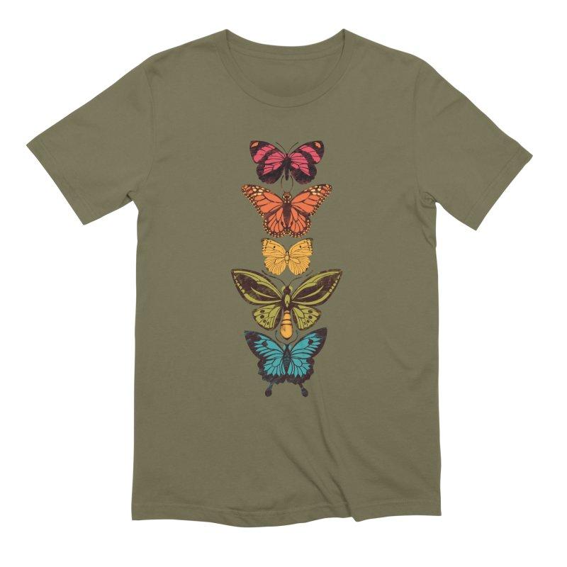 Butterfly Spectrum Men's Extra Soft T-Shirt by Waynem