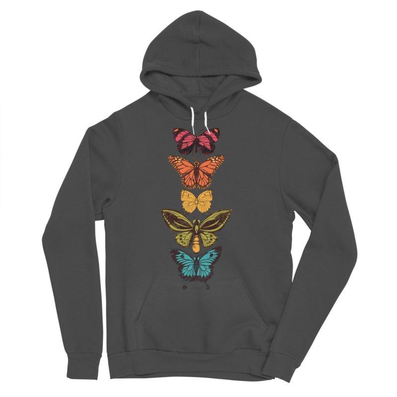 Butterfly Spectrum Men's Sponge Fleece Pullover Hoody by Waynem