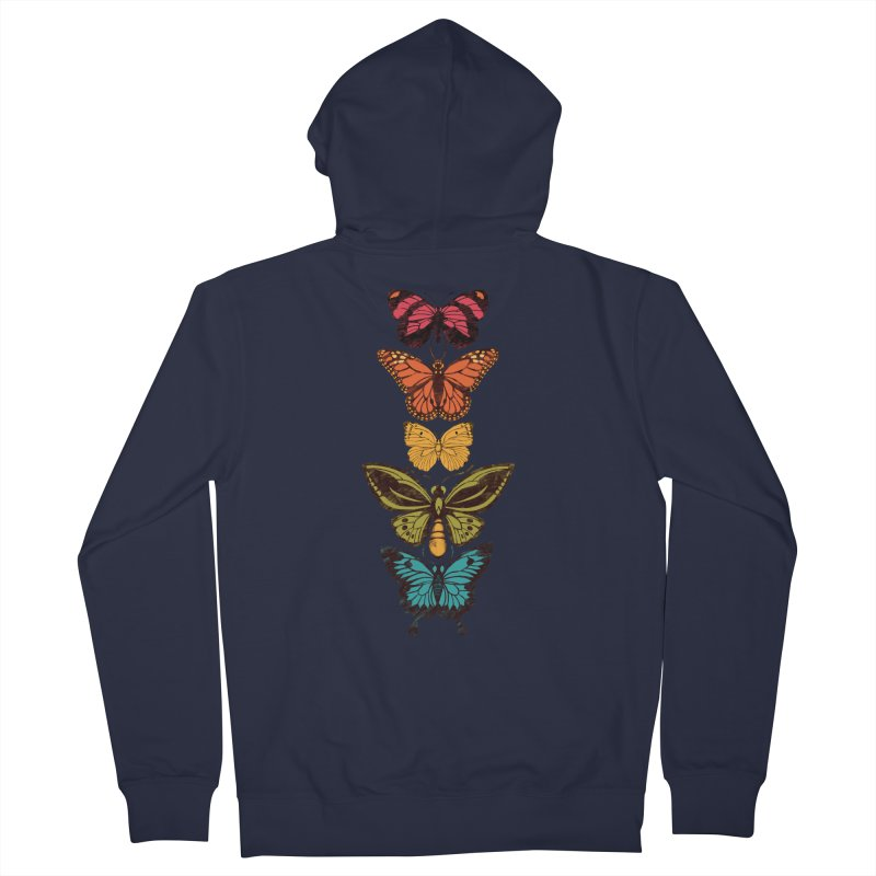 Butterfly Spectrum Men's French Terry Zip-Up Hoody by Waynem