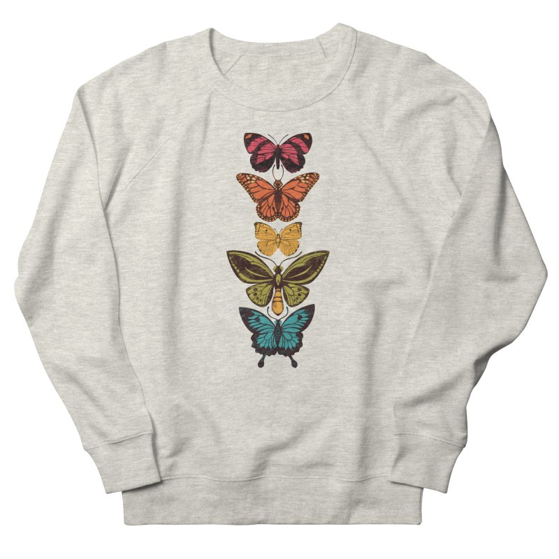 Butterfly Spectrum Men's French Terry Sweatshirt by Waynem