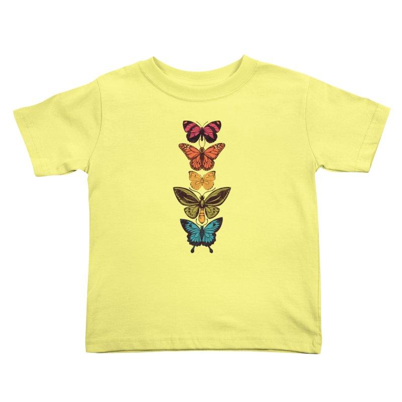 Butterfly Spectrum Kids Toddler T-Shirt by Waynem