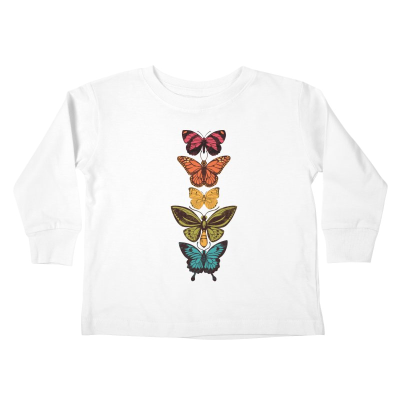 Butterfly Spectrum Kids Toddler Longsleeve T-Shirt by Waynem