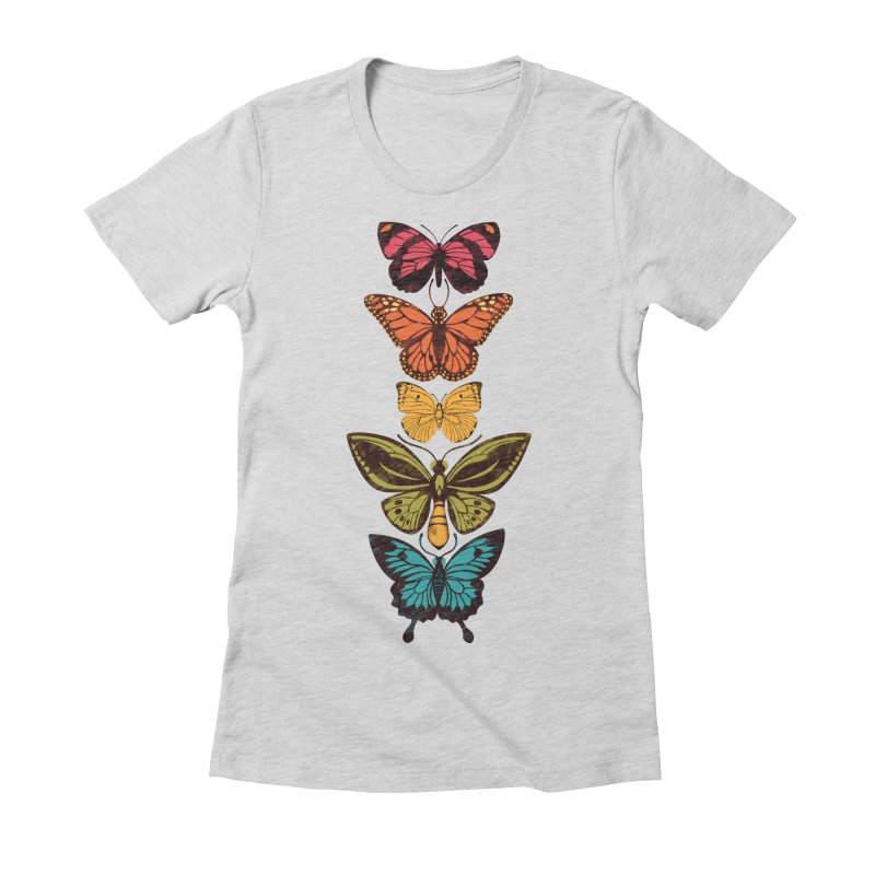 Butterfly Spectrum Women's Fitted T-Shirt by Waynem