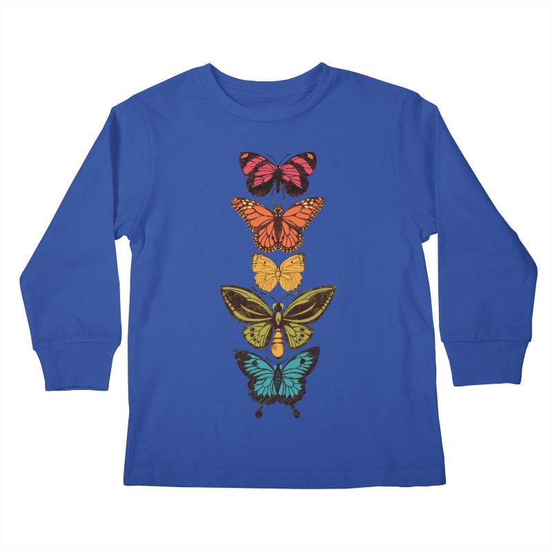 Butterfly Spectrum Kids Longsleeve T-Shirt by Waynem