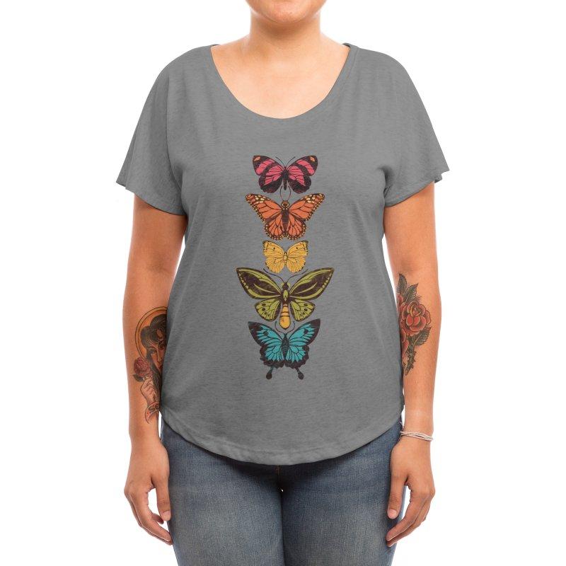 Butterfly Spectrum Women's Scoop Neck by Waynem