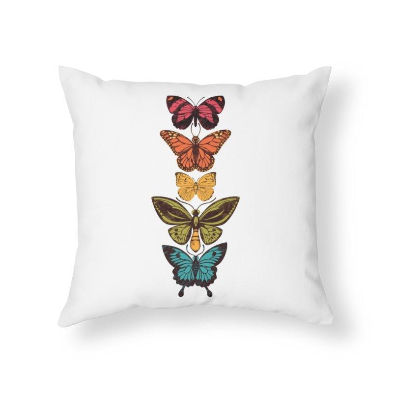 Butterfly Spectrum Home Throw Pillow by Waynem