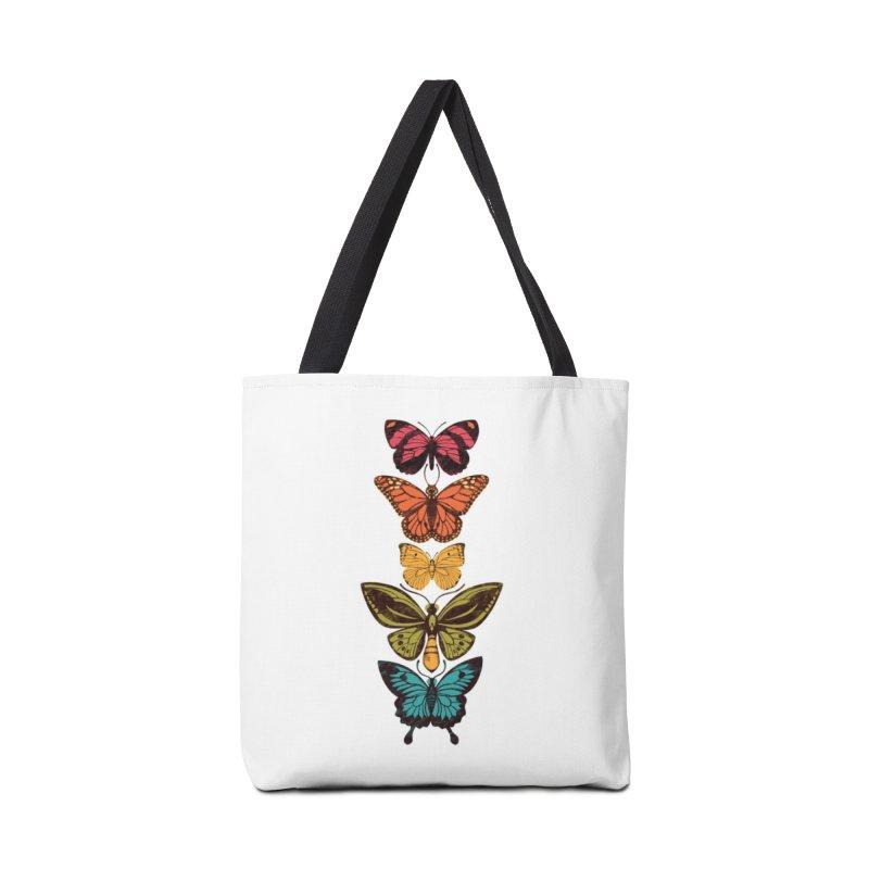 Butterfly Spectrum Accessories Tote Bag Bag by Waynem