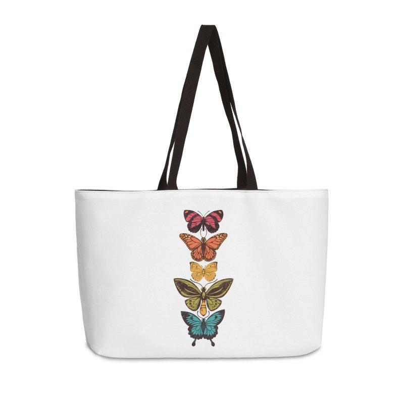 Butterfly Spectrum Accessories Weekender Bag Bag by Waynem