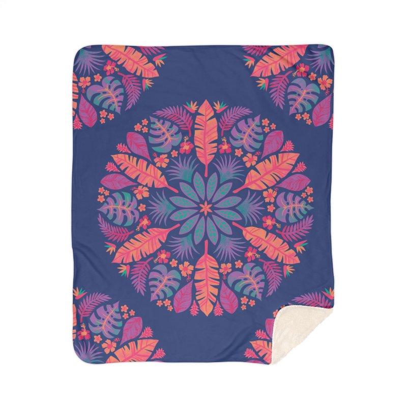 Technicolour Tropical Sun Home Sherpa Blanket Blanket by Waynem