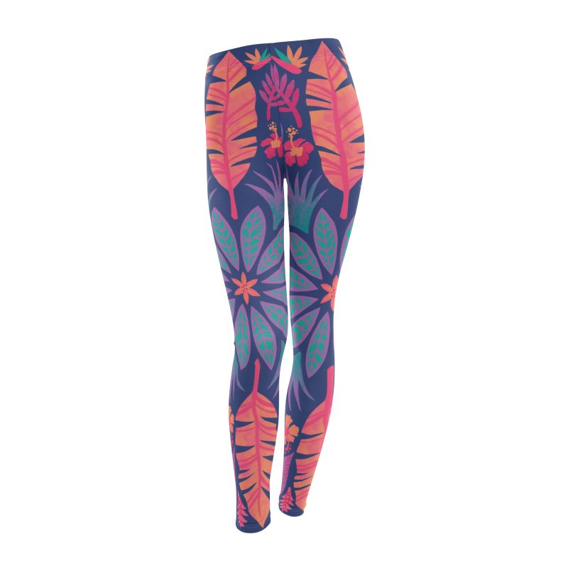 Technicolour Tropical Sun Women's Leggings Bottoms by Waynem