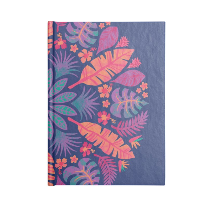 Technicolour Tropical Sun Accessories Blank Journal Notebook by Waynem