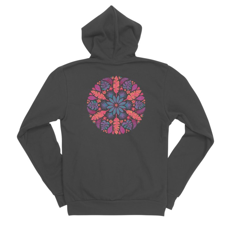 Technicolour Tropical Sun Women's Zip-Up Hoody by Waynem