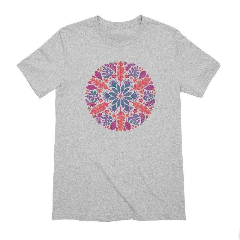 Technicolour Tropical Sun Men's Extra Soft T-Shirt by Waynem