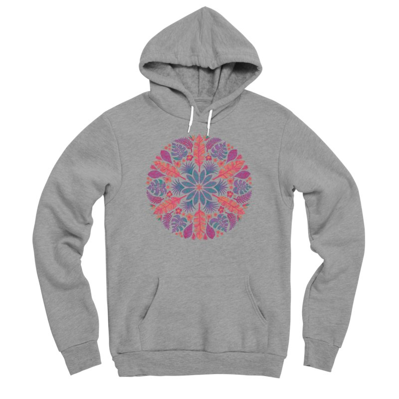 Technicolour Tropical Sun Women's Sponge Fleece Pullover Hoody by Waynem