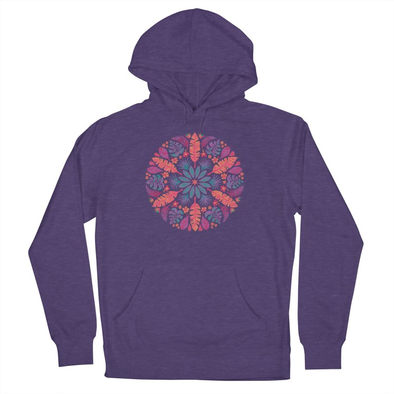 Technicolour Tropical Sun Men's French Terry Pullover Hoody by Waynem